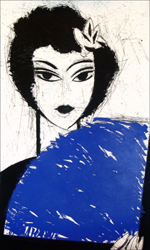 Manolo VALDES, Mujer con abanico I, 2007.